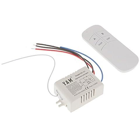 MagiDeal 220V 1/2/3/4 Voies Wireless Lampe De Lumière RF Commande à Distance Commutateur Receiver + Emitter sans Fil - quatre voies