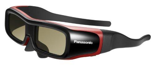 Panasonic TY-EW3D2SE Aktive Shutterbrille für 3D Viera TV schwarz/rot Größe S (Panasonic Viera Brille 3d)