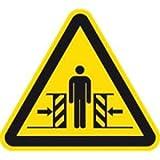 Aufkleber Warnschild Warnung vor Quetschgefahr 10cm sl Folie