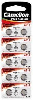 Lasermax Alkaline-Knopfzelle CAMELION AG13 1,5V, 10er-Blister