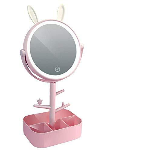 Shirluy Espejo De Maquillaje Led Luz Tocador De Espejo