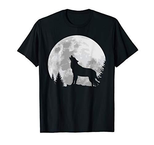 Vollmond-kinder T-shirt (Wolf Shirt Vollmond heulend Mystik romantisch Geschenk)