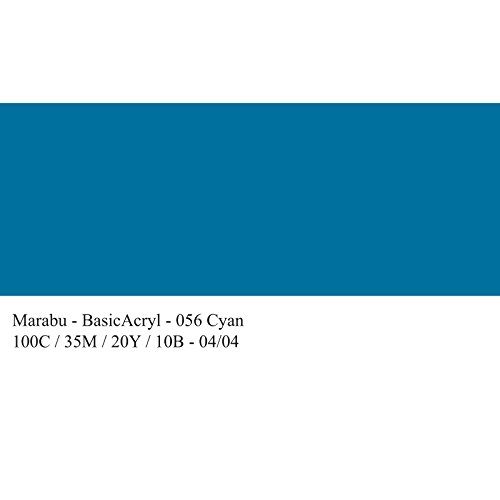 marabu-peinture-en-acrylique-basicacryl-cyan-80-ml-facile-appliquer-trs-couvrant-sche-vite-rsistant-