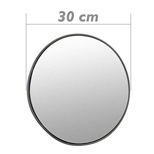 Cablematic - Espejo convexo de señalización seguridad vigilancia 30cm interiores negro