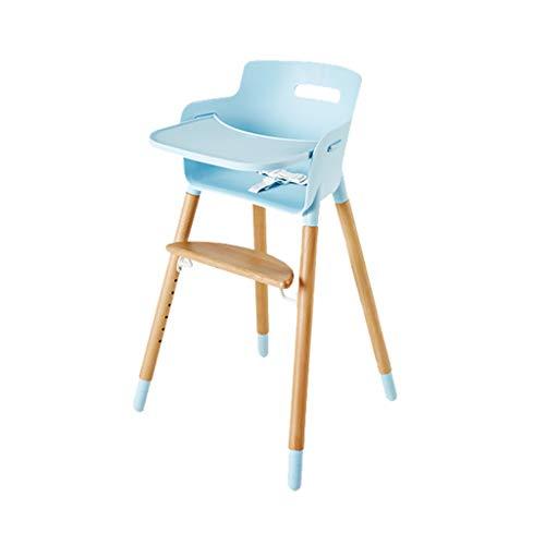 Ergonomique en Bois Chaise Haute Chaise de Salle à Manger pour bébé Table Pliante portative de siège de Repas d'enfant Tabouret de Chaise Multifonction Assis