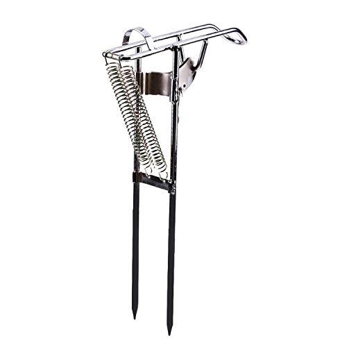 Automatische Edelstahl-Fischen-Rod Doppelfeder Tip-Up Haken Setter Angelrute Halter Rod Halter-Standplatz-Rack - Für Fisch-rod-halter Boot