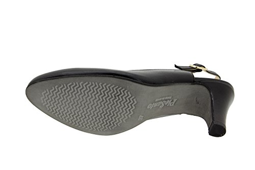 Chaussure femme confort en cuir Piesanto 6210 escarpin chaussure confortables amples Piel Negro