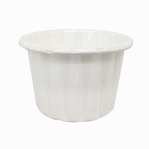 Sugar and Cakes 100 Mini Cupcake Pralinenförmchen Kapseln Muffin Weiss 31mm x 28 mm Papier Backförmchen Backform beschichtet Tasse backfähig benötigt Keine Extra Form