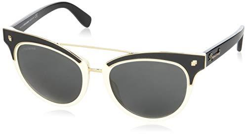 Dsquared dq0215 56-011 25a, occhiali da sole unisex-adulto, nero (schwarz), 55