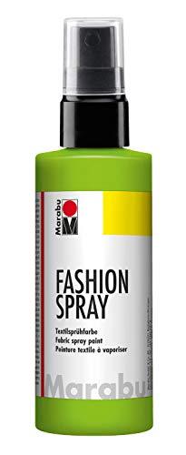 Marabu - vernice per stoffa con erogatore spray, 100 ml, colore: verde reseda
