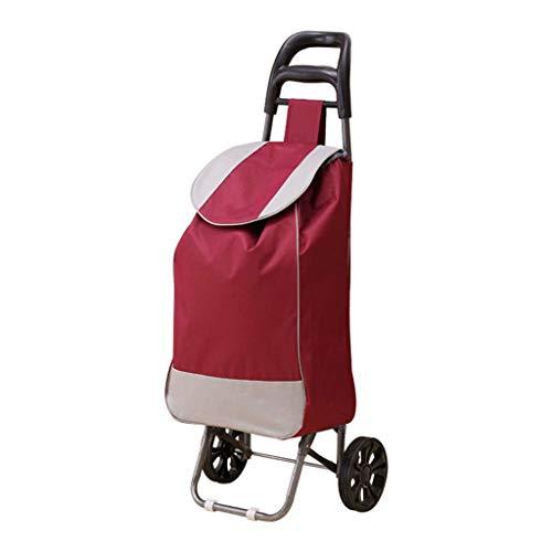 MLXSLC Hoppa 47L Leichte Einkaufstrolley, Strapazierfähig Und Versenkbar Für Einfache Aufbewahrung (Farbe : Red)