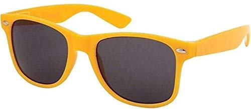 Sonnenbrille Nerdbrille retro Art. 4026 - Boolavard® TM (Gelb Tönung)