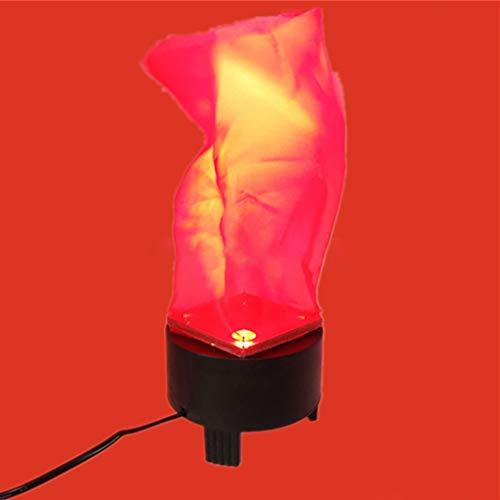 Dkings LED-Flammeneffekt-Glühbirne- Umgedrehtes flackerndes Effektfeuerlicht für den Innen- und Außenbereich, hängende Kohlenbeckenlampe Fake Fire für Halloween-Kostümparty-Dekorationen (20CM)