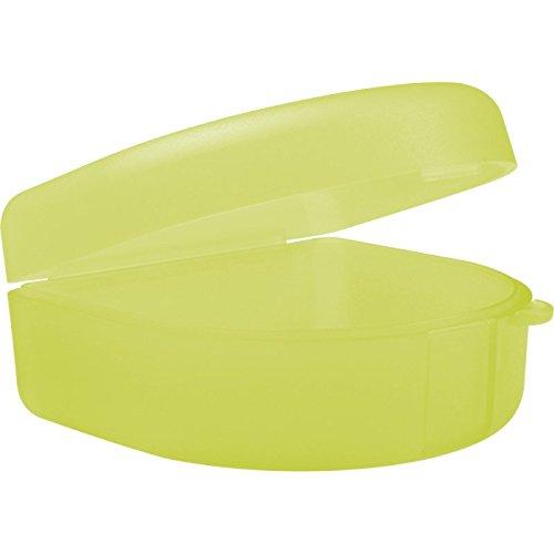 wellsamed Zahnspangendose Spangendose Dento Box maxi gelb, flache Dose (auch für Aufbissschiene, Knirscherschiene) 1 Stück