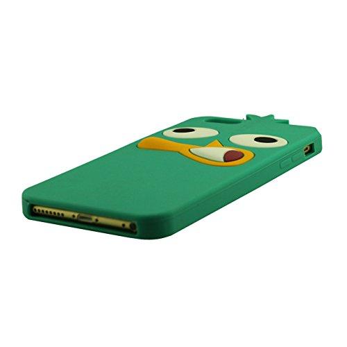 Coque iPhone 6, Case iphone 6S, Etui Apple iPhone 6 / 6S 4.7 inch, Un chat noir portant des lunettes Désign Doux Silicone Plastique Etui avec 1 Métal pendentif cyan