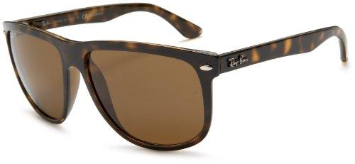Ray Ban Unisex Sonnenbrille RB4147, (Gestell: Havana, Gläser: Polarized Braun Klassisch 710/57), X-Large (Herstellergröße: 60)