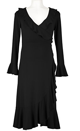 Picchu Maternity - Robe spécial grossesse - Portefeuille - Manches Longues - Femme Noir