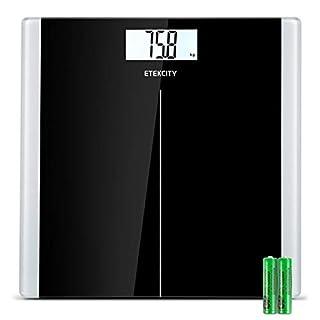 Etekcity High Precision Digital Body Weight Bathroom Scales Weighing Scale with Step-On Technology, 28st/180kg/400lb, Backlight Display, Slim Design, Elegant Black.