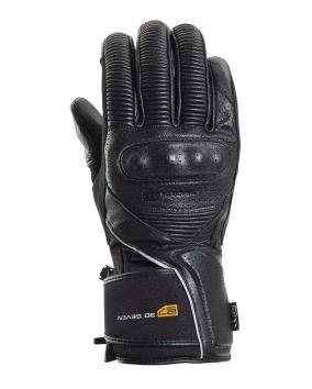 30seven Motocross calefactables moto guantes con batería | Guantes de invierno para motorista & Biker | piel protecciones | Negro para Hombre Mujer Unisex