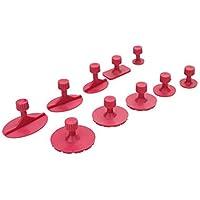 10 Unids Rose Rojo Mezclado Tirando Junta De Empaquetado Herramienta De Coches Paintless Dent Reparación De Herramientas De Auto