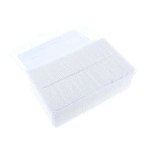 Sharplace Boite de 1000 pcs Carré Coton à Démaquiller Epais pour Maquiller Nail Art Ongle Nettoyant Cosmétique