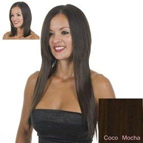 Extensions Cheveux Clips Bruns Raides | 45cm de longeur | Lot de 10 Clips Pièces pour une tête pleine d'extensions | Résistant à la chaleur