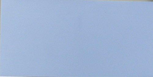 Wachsplatte hellblau 20x10 cm - 9773 - Verzierwachsplatte 200x100 mm für Kerzen