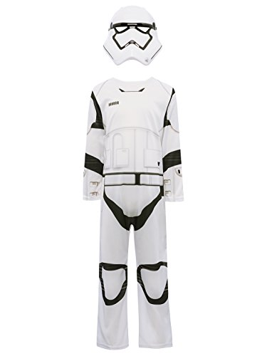 Rebels Wars Kostüme Star Stormtrooper Kind (Disney Kinder Star Wars The Force weckt Stormtrooper Anzug Fancy Kleid Charakter Kostüm Gr. M-5-7 Jahre,)