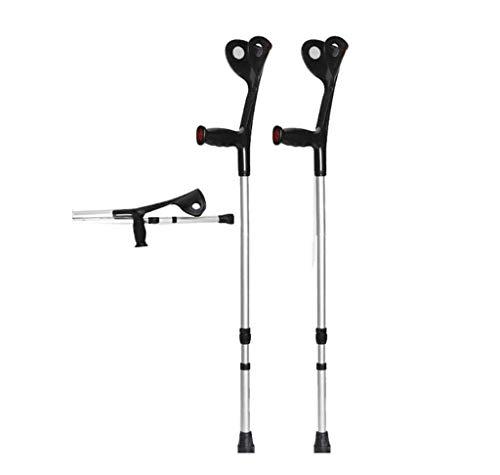 SuRose Klappbare GEH-Unterarm-Krücken, leichte Krücke, verstellbare Unterarm-Krücken für Erwachsene, ergonomischer Griff mit bequemem Griff, extrem stabil, schwarz (1 Paar) -