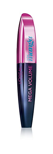 farbige wimperntusche L'Oréal Paris Mega Volume Collagen Mascara Miss Manga, pop turquoise, 1er Pack (1 x 8,5 ml)