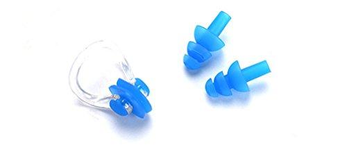 Katech Morbido Silicone Nuoto Clip del Naso e Tappi per Le Orecchie Set Professionale congestione nasale Impermeabile Nuotata Attrezzature Good Protector per Adulti e Bambini