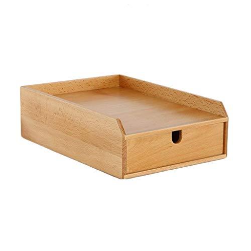 MJY Aufbewahrungsbox A4 Papier Buche Aktenschränke Schubladen Kombination Massivholz Büro Informationen Aktenschrank Desktop Lernen Lagerregal Finishing Box (Aktenschrank Massivholz)