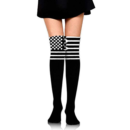 tianjianzulinyouxiangongsi Women's Knee High Sport Long Sock Mechanic DIY Wrench American Flag for Running Sport Long Stockings 50CM