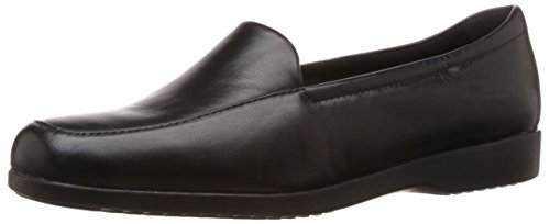 Clarks Women's Loafer Flats Shoes Georgia Black Leather