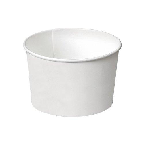 PZ 250 Coupelle blanche CC 80 pour glace en Papier White Cups Paper format petit