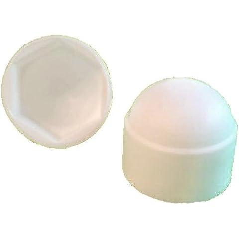 50pezzi chiave tappo di protezione M8–esagonale 13mm, colore bianco–Copertura - Chiave Esagonale 13 Pezzo