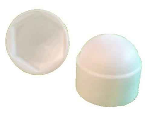 Lot de 50 6 pans Capuchon M6 – Largeur Clé 10 mm, couleur blanc – Capuchons
