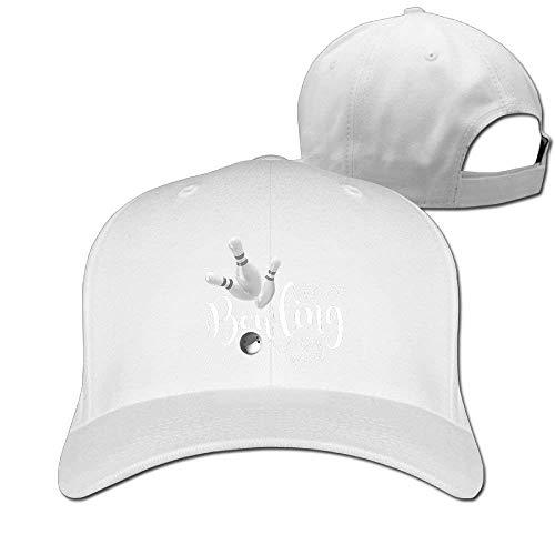 (Bowling Sport Unisex Casual Baseball Hat & Cap White)