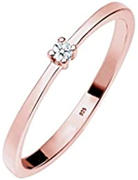 Diamore Women Silver Solitaire Engagement Ring - 0601432318_52