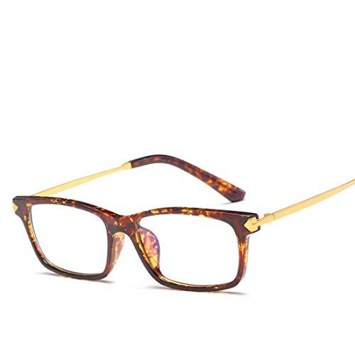 Mkulxina Unisex-Brillengestell Nicht verschreibungspflichtige Brillen Männer, Frauen (Color : Leopard)
