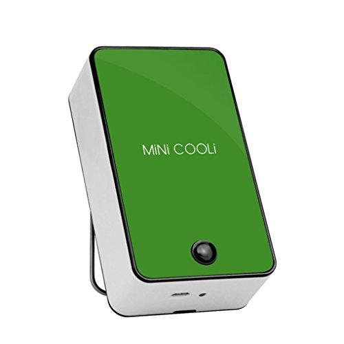Mini Klimaanlagen Ventilator FORH Mobile Luftkühler Hochwertige Tragbare Fan USB Leicht Outdoor Lüfter Kühler Luftkühler Kraftvoller und geräuscharmer Turbo-Ventilator Air Cooler (Grün)