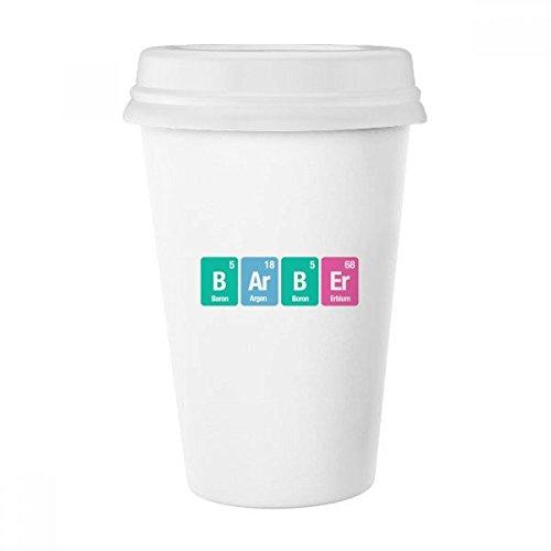 DIYthinker Taza del Peluquero Elemento químico Ciencia Blanco clásico de la cerámica Taza de cerámica con Tapa Regalo 350ml