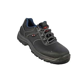 Almar Nadir S2 SRC Safety Shoes Work Shoes Flat Black B-Ware, Size:37 EU
