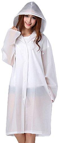 Mochoose Damen Regenjacke beige beige Large Weiß
