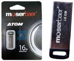 Moserbaer Atom USB 2.0 16GB Pen Drive (Silver)