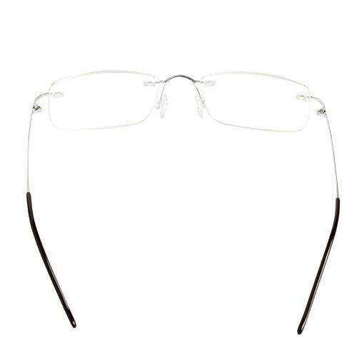 liansan occhiali  LianSan Titanium senza montatura occhiali da lettura lettori uomo ...