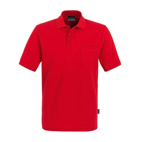 Hakro Pocket Polo Top, rot, 2XL - Pocket Pique Polo-shirt