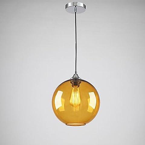 LYNDM-Miglior regalo di Natale, moderno in vetro luce pendente in rotonda ambra Design Bolla ,