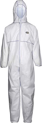 Cover Base Premium Chemieschutzoverall (SMS) SMS-1, weiß/blau, Gr. XL -