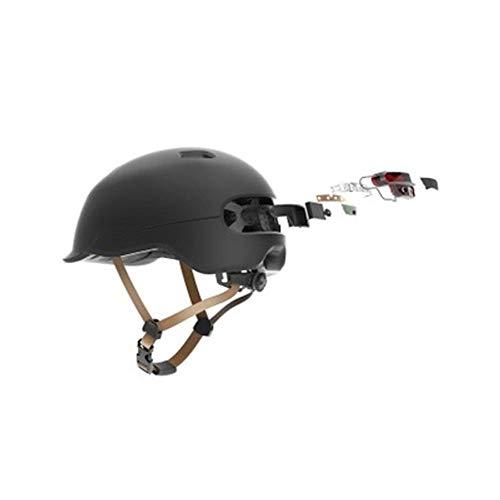 Casco moto Outdoor Smart Bike - Casco leggero traspirante leggero e portatile - Spia luminosa automatica a LED con luce lampeggiant